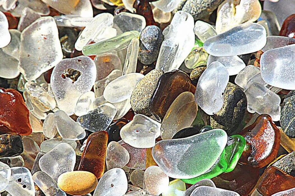 Different colors of Sea Glass